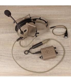 FCS AMP headsets w V60 PTT combo TAN&TAN