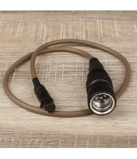 DUAL com connector cable Tan