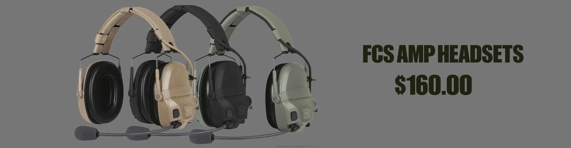 FCS AMP Headsets